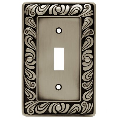 Paisley Single Switch Wall Plate Finish: Brushed Satin Pewter