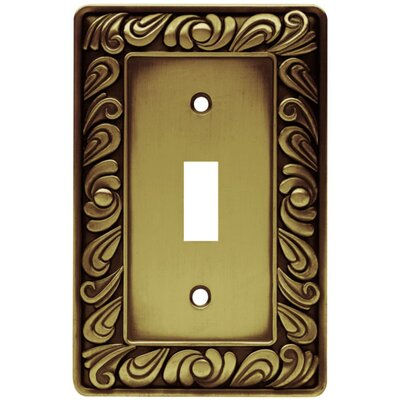 Paisley Single Switch Wall Plate Finish: Tumbled Antique Brass