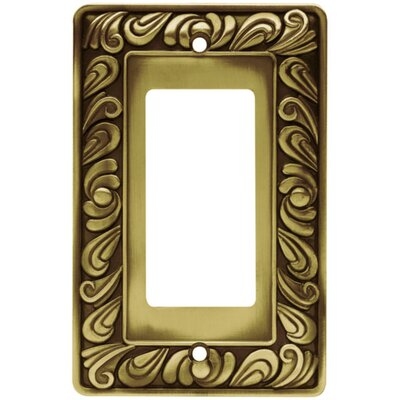 Paisley Single GFCI/Rocker Wall Plate Finish: Tumbled Antique Brass