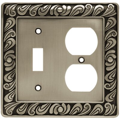 Paisley Single Switch & Duplex Wall Plate Finish: Brushed Satin Pewter