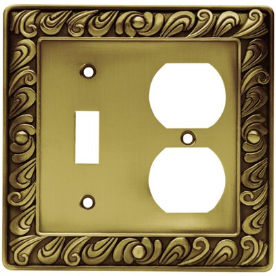Paisley Single Switch & Duplex Wall Plate Finish: Tumbled Antique Brass