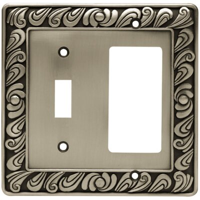 Paisley Single Switch GFCI/Rocker Wall Plate Finish: Brushed Satin Pewter