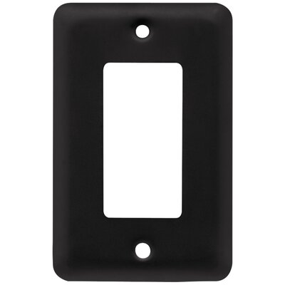 Stamped Single Decorator Wall Plate Finish: Flat Black