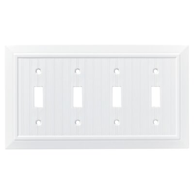 Classic Beadboard Quad Switch Wall Plate