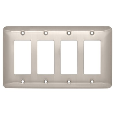 Stamped Round Quad Decorator Wall Plate