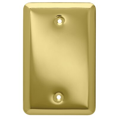 Stamped Round Wall Plate Cover Color: Polished Brass