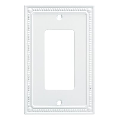 Classic Beaded Single Decorator Wall Plate Finish: Pure White