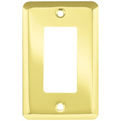 Stamped Single Decorator Wall Plate Finish: Polished Brass