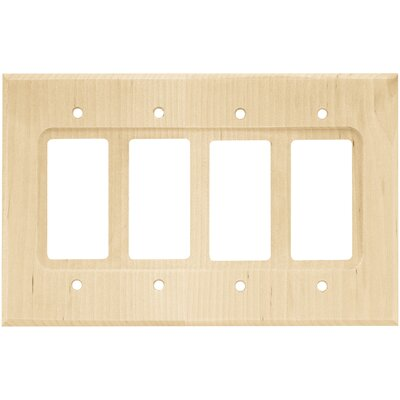 Quad Decorator Wall Plate