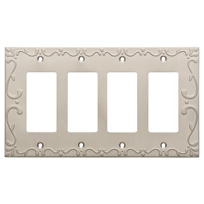 Classic Lace Quad Decorator Wall Plate Color: Satin Nickel