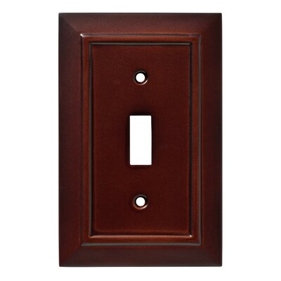 Classic Architecture Single Switch Wall Plate Finish: Espresso