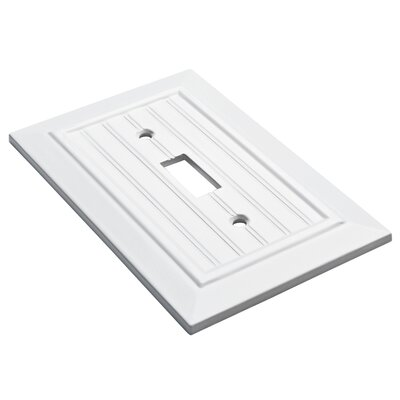 Classic Beadboard Single Switch Wall Plate