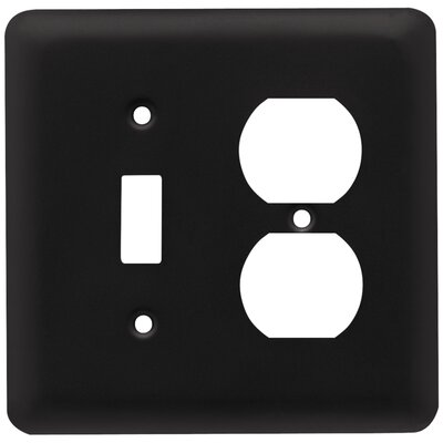 Stamped Round Single Switch Gang Duplex Wall Plate Finish: Flat Black