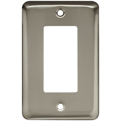 Stamped Single Decorator Wall Plate Color: Satin Nickel