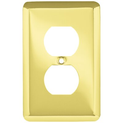 Stamped Round 1 Gang Duplex Wall Plate Color: Polished Brass