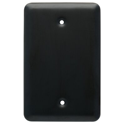 Stamped Round Wall Plate Cover Color: Flat Black