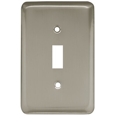 Stamped Round Single Switch Wall Plate Color: Satin Nickel