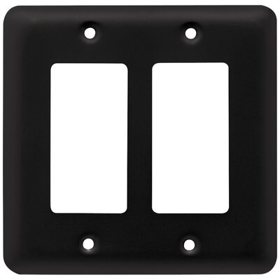 Stamped Round Double Decorator Wall Plate Finish: Flat Black