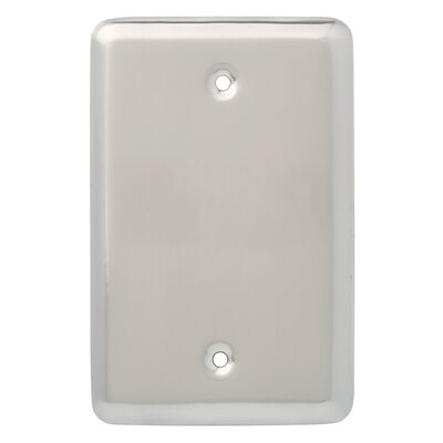 Stamped Round Wall Plate Cover Finish: Satin Nickel