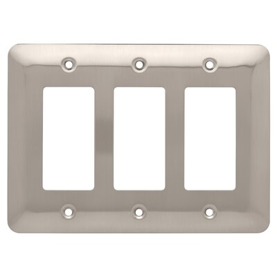 Stamped Round Triple Decorator Wall Plate