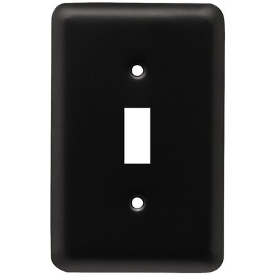Stamped Round Single Switch Wall Plate Finish: Flat Black