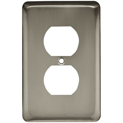 Stamped Round 1 Gang Duplex Wall Plate Color: Satin Nickel