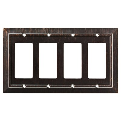 Classic Architecture Quad Decorator Wall Plate Finish: Venetian Bronze
