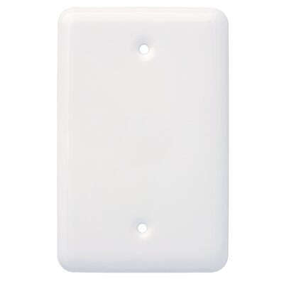 Stamped Round Wall Plate Cover Color: White