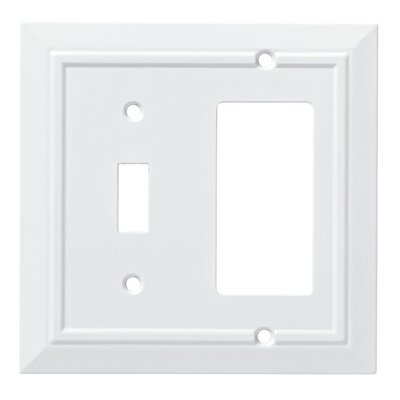 Classic Architecture Single Switch Decorator Wall Plate Color: Pure White