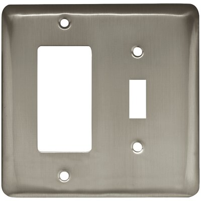 Stamped Round Single Switch Decorator Wall Plate Finish: Satin Nickel