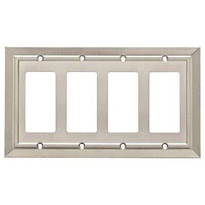 Classic Architecture Quad Decorator Wall Plate Finish: Satin Nickel