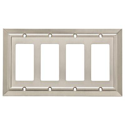 Classic Architecture Quad Decorator Wall Plate Finish: Satin Nickel