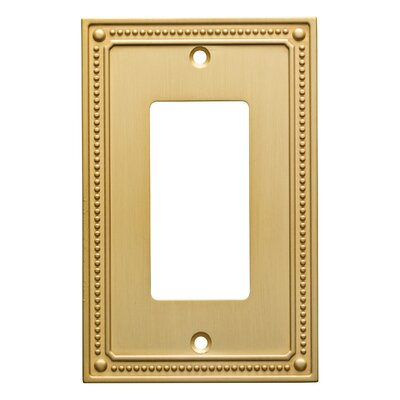 Classic Beaded Single Decorator Wall Plate Finish: Brushed Brass