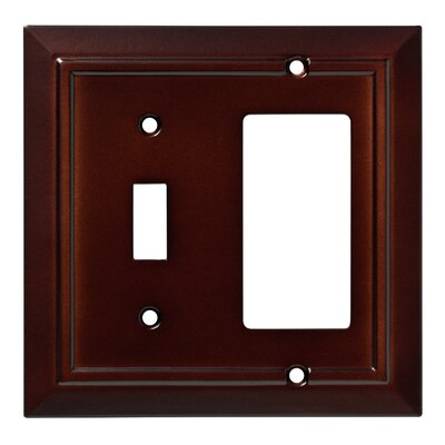 Classic Architecture Single Switch Decorator Wall Plate Color: Espresso