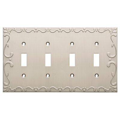 Classic Lace Quad Switch Wall Plate Color: Satin Nickel