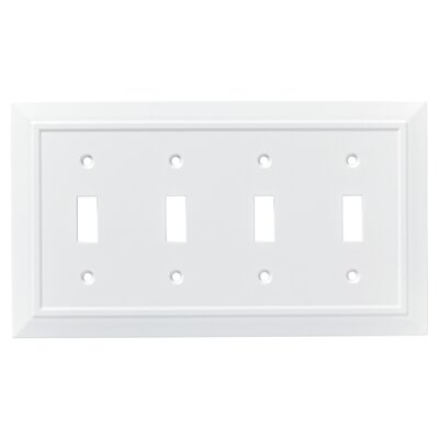Classic Architecture Quad Switch Wall Plate Finish: Pure White