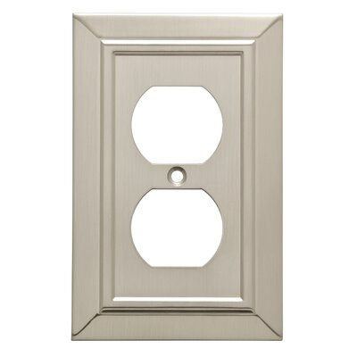 Classic Architecture 1 Gang Duplex Wall Plate Finish: Satin Nickel