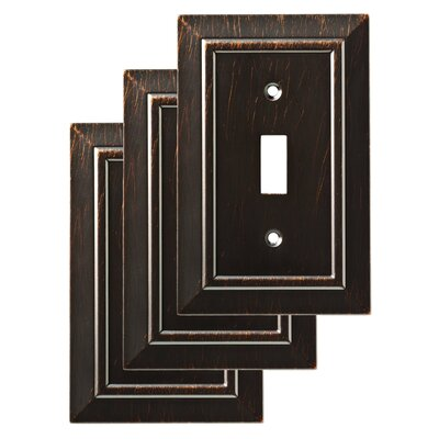 Classic Architecture Single Switch Wall Plate Color: Venetian Bronze