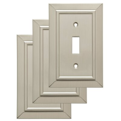 Classic Architecture Single Switch Wall Plate Finish: Satin Nickel