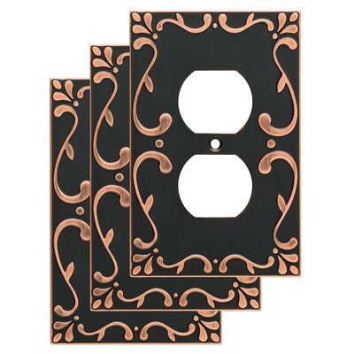 Classic Lace 1 Gang Duplex Wall Plate Color: Bronze/Copper