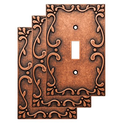 Classic Lace Single Switch Wall Plate Finish: Sponged Copper