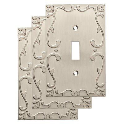 Classic Lace Single Switch Wall Plate Color: Satin Nickel