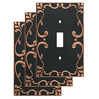 Classic Lace Single Switch Wall Plate Color: Bronze/Copper