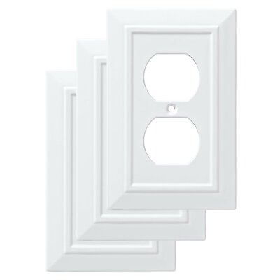 Classic Architecture 1 Duplex Wall Plate Finish: Pure White