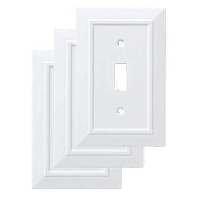 Classic Architecture Single Switch Wall Plate Finish: Pure White