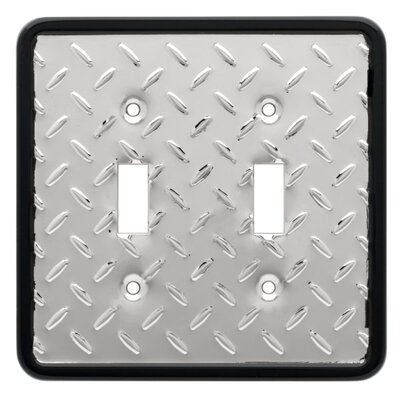 Diamond Plate Double Switch Wall Plate