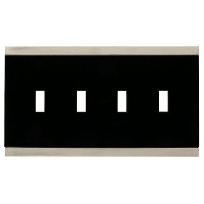 Basic Stripe Quad Switch Wall Plate