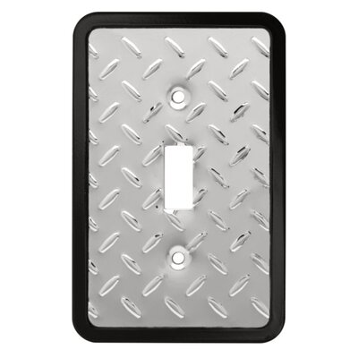 Diamond Plate Single Switch Wall Plate