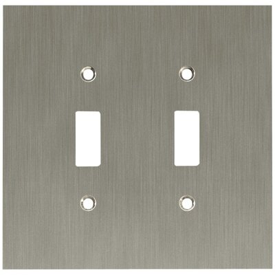 Concave Double Switch Wall Plate Finish: Satin Nickel
