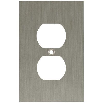 Concave Single Duplex Wall Plate Finish: Satin Nickel